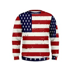 Flag United States United States Of America Stripes Red White Kids  Sweatshirt