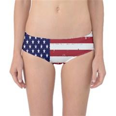 Flag United States United States Of America Stripes Red White Classic Bikini Bottoms