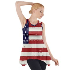 Flag United States United States Of America Stripes Red White Side Drop Tank Tunic