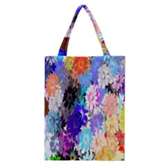 Flowers Colorful Drawing Oil Classic Tote Bag