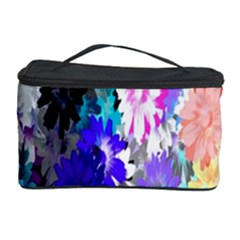 Flowers Colorful Drawing Oil Cosmetic Storage Case