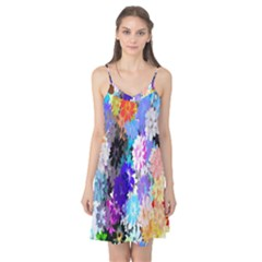 Flowers Colorful Drawing Oil Camis Nightgown