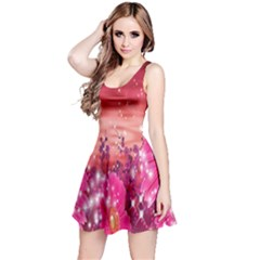 Flowers Neon Stars Glow Pink Sakura Gerberas Sparkle Shine Daisies Bright Gerbera Butterflies Sunris Reversible Sleeveless Dress