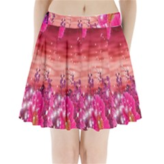 Flowers Neon Stars Glow Pink Sakura Gerberas Sparkle Shine Daisies Bright Gerbera Butterflies Sunris Pleated Mini Skirt
