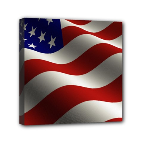 Flag United States Stars Stripes Symbol Mini Canvas 6  X 6