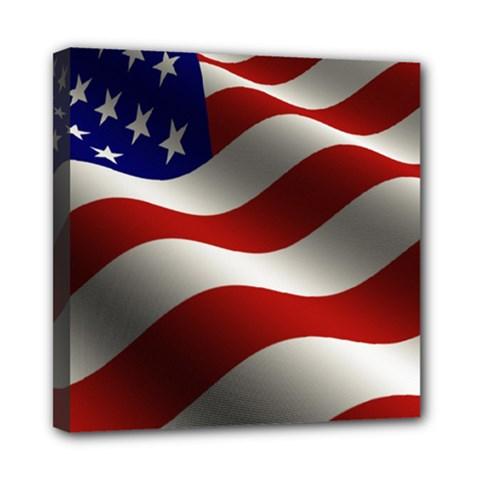 Flag United States Stars Stripes Symbol Mini Canvas 8  x 8