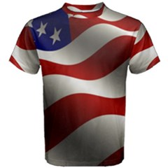 Flag United States Stars Stripes Symbol Men s Cotton Tee