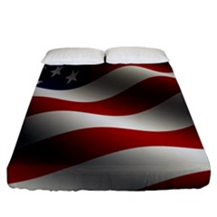 Flag United States Stars Stripes Symbol Fitted Sheet (california King Size)