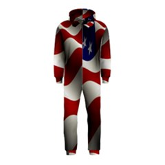 Flag United States Stars Stripes Symbol Hooded Jumpsuit (Kids)