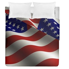 Flag United States Stars Stripes Symbol Duvet Cover Double Side (queen Size)