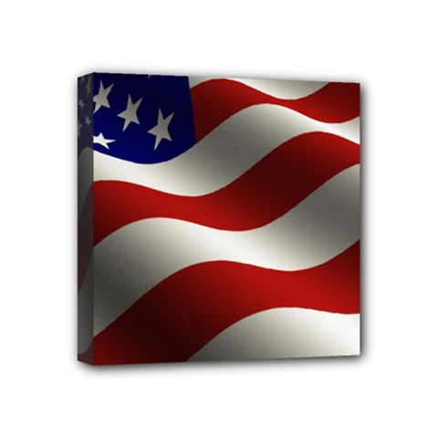 Flag United States Stars Stripes Symbol Mini Canvas 4  x 4