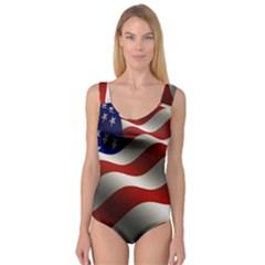 Flag United States Stars Stripes Symbol Princess Tank Leotard