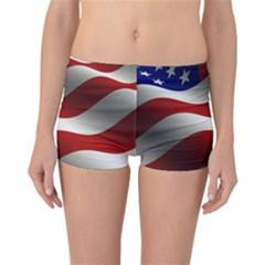 Flag United States Stars Stripes Symbol Reversible Bikini Bottoms