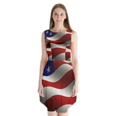 Flag United States Stars Stripes Symbol Sleeveless Chiffon Dress