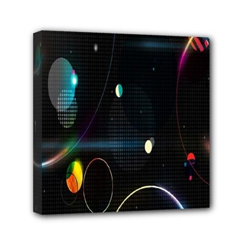 Glare Light Luster Circles Shapes Mini Canvas 6  x 6