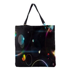 Glare Light Luster Circles Shapes Grocery Tote Bag