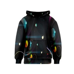 Glare Light Luster Circles Shapes Kids  Pullover Hoodie