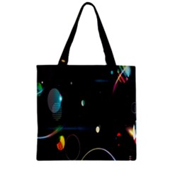 Glare Light Luster Circles Shapes Zipper Grocery Tote Bag