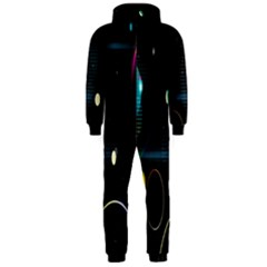 Glare Light Luster Circles Shapes Hooded Jumpsuit (men)