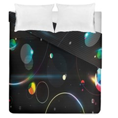 Glare Light Luster Circles Shapes Duvet Cover Double Side (queen Size)