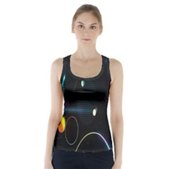Glare Light Luster Circles Shapes Racer Back Sports Top