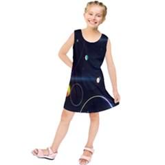 Glare Light Luster Circles Shapes Kids  Tunic Dress