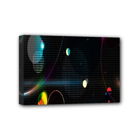 Glare Light Luster Circles Shapes Mini Canvas 6  x 4