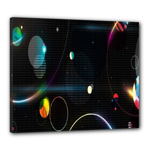 Glare Light Luster Circles Shapes Canvas 24  X 20