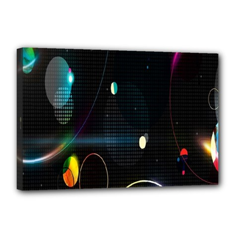 Glare Light Luster Circles Shapes Canvas 18  x 12