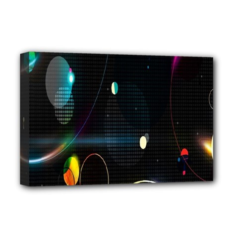 Glare Light Luster Circles Shapes Deluxe Canvas 18  x 12