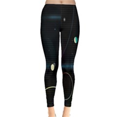 Glare Light Luster Circles Shapes Leggings