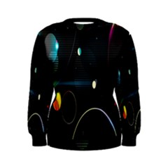 Glare Light Luster Circles Shapes Women s Sweatshirt