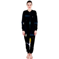 Glare Light Luster Circles Shapes OnePiece Jumpsuit (Ladies)