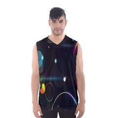 Glare Light Luster Circles Shapes Men s Basketball Tank Top