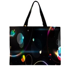 Glare Light Luster Circles Shapes Large Tote Bag