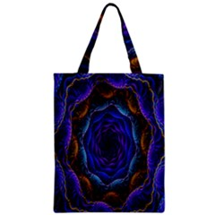 Flowers Dive Neon Light Patterns Classic Tote Bag
