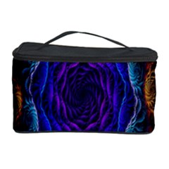 Flowers Dive Neon Light Patterns Cosmetic Storage Case