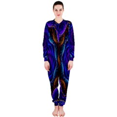Flowers Dive Neon Light Patterns OnePiece Jumpsuit (Ladies)