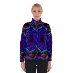 Flowers Dive Neon Light Patterns Winterwear