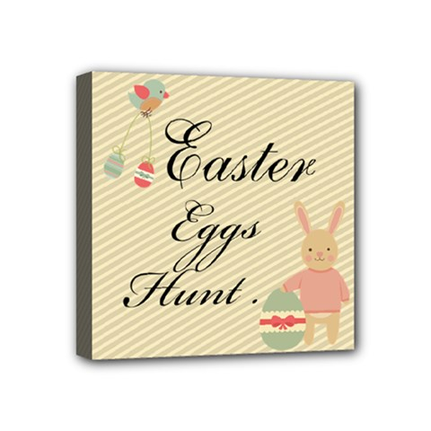 Easter Egg Hunter  Mini Canvas 4  X 4  (framed)