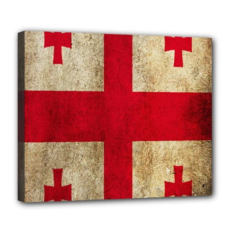 Georgia Flag Mud Texture Pattern Symbol Surface Deluxe Canvas 24  x 20