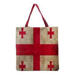 Georgia Flag Mud Texture Pattern Symbol Surface Grocery Tote Bag