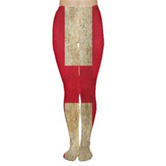 Georgia Flag Mud Texture Pattern Symbol Surface Women s Tights