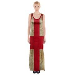 Georgia Flag Mud Texture Pattern Symbol Surface Maxi Thigh Split Dress