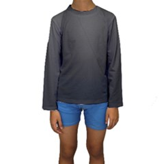 Leather Stitching Thread Perforation Perforated Leather Texture Kids  Long Sleeve Swimwear