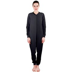 Leather Stitching Thread Perforation Perforated Leather Texture OnePiece Jumpsuit (Ladies)