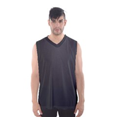 Leather Stitching Thread Perforation Perforated Leather Texture Men s Basketball Tank Top
