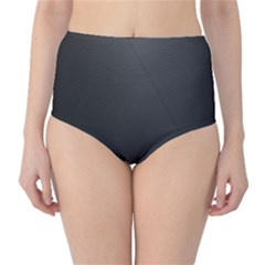 Leather Stitching Thread Perforation Perforated Leather Texture High-Waist Bikini Bottoms
