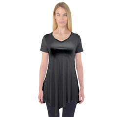 Leather Stitching Thread Perforation Perforated Leather Texture Short Sleeve Tunic
