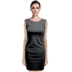 Leather Stitching Thread Perforation Perforated Leather Texture Classic Sleeveless Midi Dress
